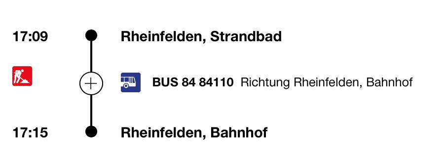 Rückfahrt nach Rheinfelden